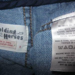 Anthropologie Skirts - Anthropologie Holding Horses Pieced Denim Skirt
